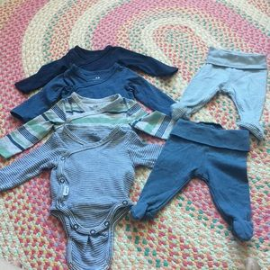 H&M organic onesies and pants 0-1 m